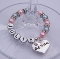 Big Sister Wine Glass Charms